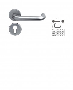 ASI 8101 SS Lever Handle