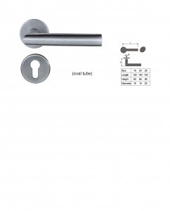 ASI 8122 SS Lever Handle
